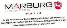 Stadt Marburg, Richtlinien zur Anerkennung und Förderung der Jugendarbeit