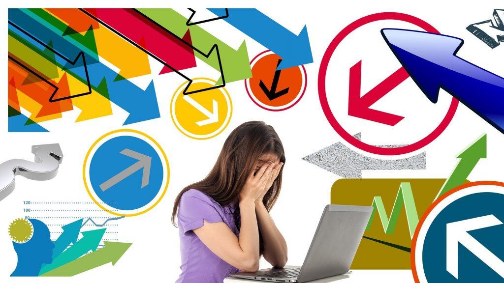 Frau gestresst. Bild von Gerd Altmann auf Pixabay.