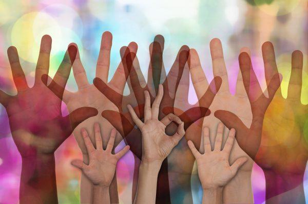 Hände für Partizipation