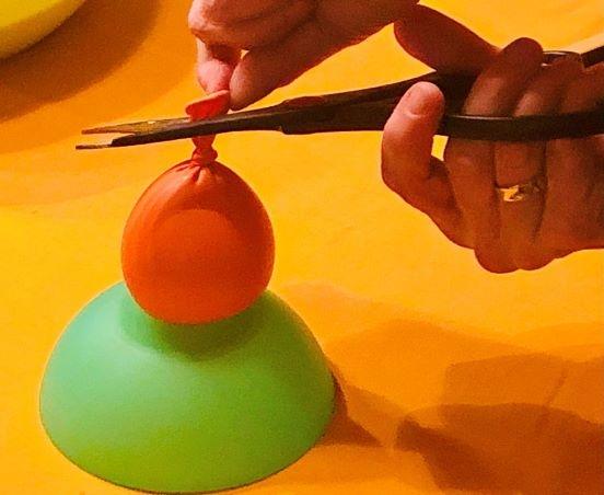 Pois herstellen 4 - Luftballon beschneiden