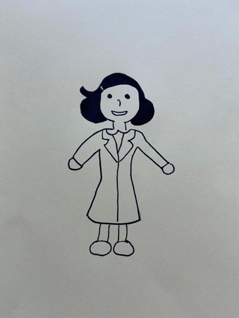 Anne Frank als Zeichnung