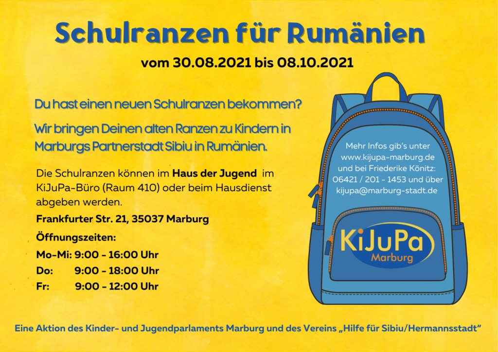 KiJuPa-Schulranzen-Aktion 2021 Rückseite