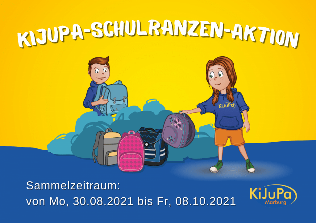 KiJuPa-Schulranzen-Aktion 2021 Vorderseite